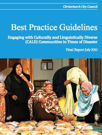 Best Practice Guidelines of Diverse Communities Disaster