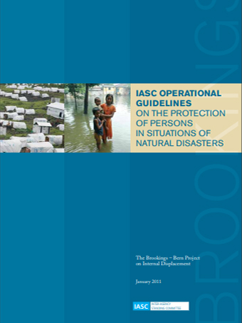 IASC Operational Guidelines on Protection of Persons in Natural Disasters
